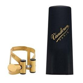 Vandoren Vandoren M|O Ligature and Plastic Cap for V16 Baritone Saxophone; Aged Gold