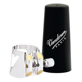 Vandoren Vandoren Optimum Ligature and Plastic Cap for Eb Clarinet; Silver-Plated; Includes 3 Interchangeable Pressure Plates