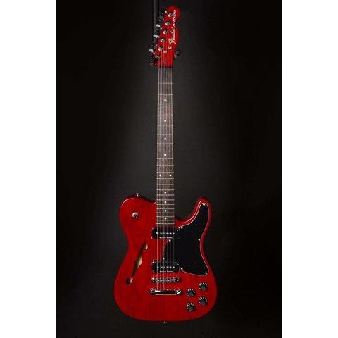 Jim Adkins JA-90 Telecaster Thinline Rosewood Fingerboard Crimson Trans Red