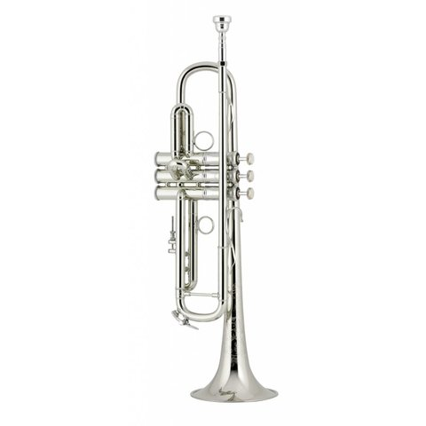 Bach LR190S43BW3 Stradivarius Professional Bb Trumpet, Silver Plated w/ Case