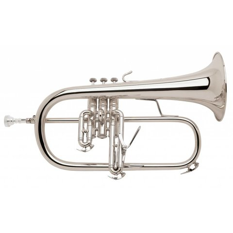 Bach 183S Stradivarius Professional Bb Flugelhorn, Silver Plated