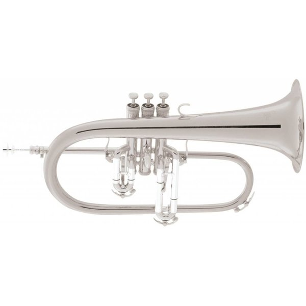King King 2020SP Legend Series Professional Bb Flugelhorn, Silver Plated