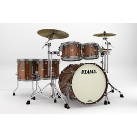 TAMA Tama Starclassic Bubinga Exotix Tigerwood 5Pc Shell Kit With Smoked Black Nickel Shell Hardware In Midnight Tigerwood Fade Finish