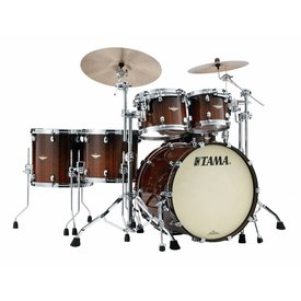 TAMA Tama Starclassic Bubinga Exotix Tigerwood 5Pc Shell Kit With Chrome Shell Hardware In Midnight Tigerwood Fade Finish