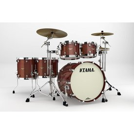 TAMA Tama Starclassic Bubinga Exotix Tigerwood 5Pc Shell Kit With Chrome Shell Hardware In Crimson Tigerwood Fade Finish