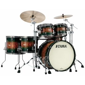 TAMA Tama Starclassic Exotix Quilted Bubinga 5Pc Shell Kit Jungle Quilted Burst
