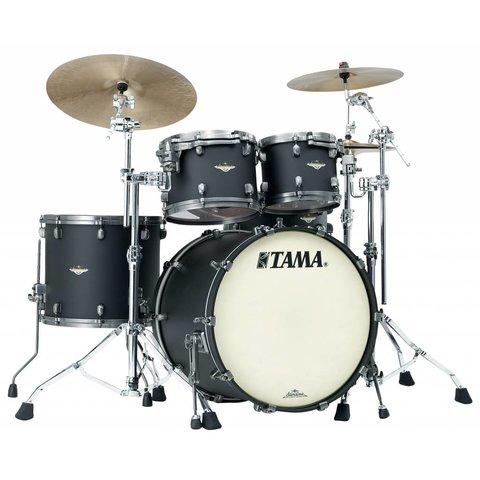 Tama Starclassic Bubinga 4Pc Shell Kit Smoked Black Nickel Hardware Flat Black