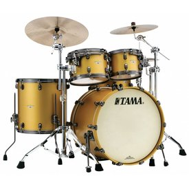 TAMA Tama Starclassic Maple 22''Bd 5Pc Shell Kit With Smoked Black Nickel Shell Hardware In Satin Aztec Gold Metallic Finish