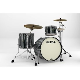 TAMA Tama Starclassic Bubinga 3Pc Shell Kit With Smoked Black Nickel Shell Hardware In Black Clouds & Silver Linings Finish
