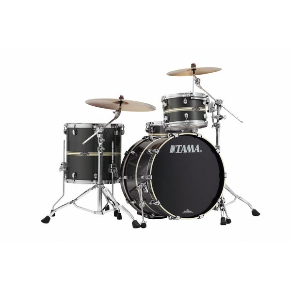 TAMA Tama Starclassic Performer B/B 3Pc Shell Kit In Gun Metal Classic Stripe Finish