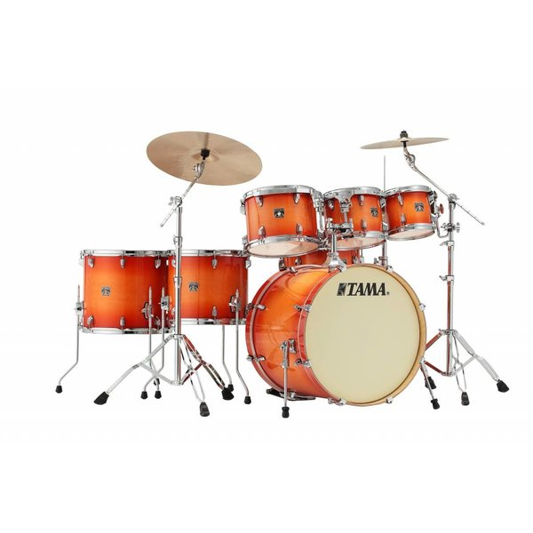 TAMA Tama Superstar Classic 7Pc Shell Kit In Tangerine Lacquer Burst Finish