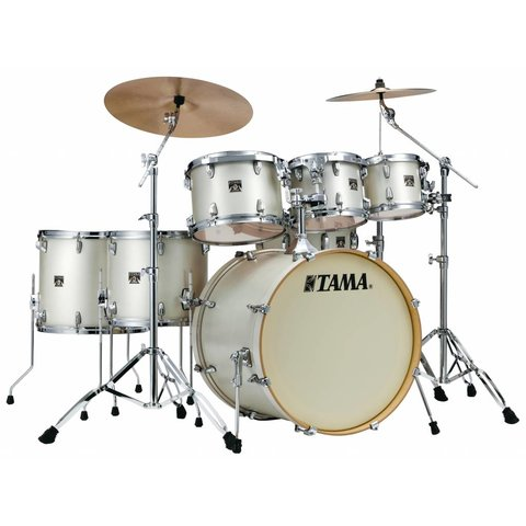Tama Superstar Classic 7Pc Shell Kit In Satin Arctic Pearl White Finish