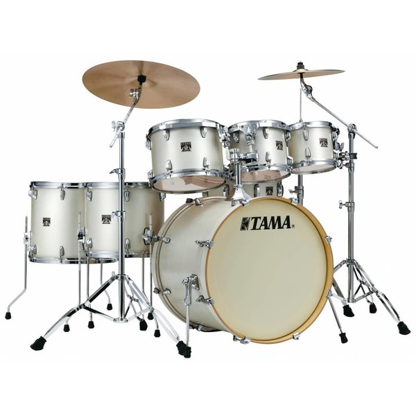 TAMA Tama Superstar Classic 7Pc Shell Kit In Satin Arctic Pearl White Finish