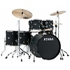 Tama Imperialstar 6Pc Complete Kit With Meinl Hcs Cymbals In Blacked Out Black Finish + Black Nickel Shell Hardware
