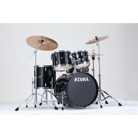 "TAMA Tama Imperialstar 5Pc 20""Bd Complete Kit w/ Meinl HCS Cymbals Hairline Black"