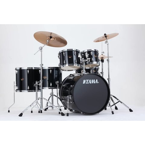 Tama Imperialstar 6Pc Complete Kit w/ Meinl Hcs Cymbals In Hairline Black Finish