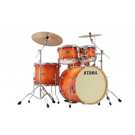 TAMA Tama Superstar Classic 5Pc Shell Kit In Tangerine Lacquer Burst Finish