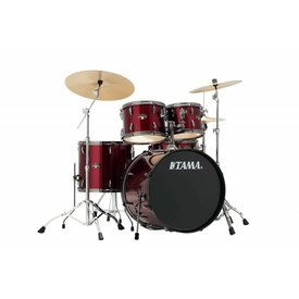 TAMA Tama Imperialstar 5Pc Complete Kit With Meinl HCS Cymbals In Vintage Red Finish + Black Nickel Shell Hardware
