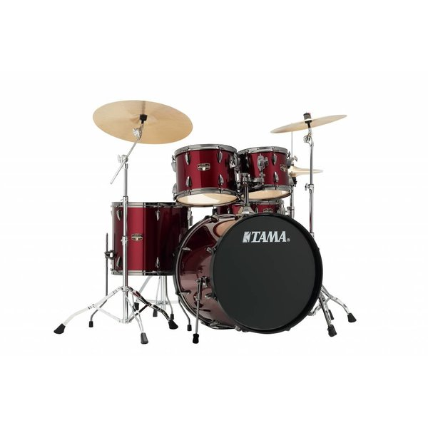 TAMA Tama Imperialstar 5Pc Complete Kit Meinl HCS Cymbals Vintage Red Black Hardware