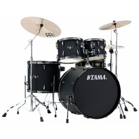 TAMA Tama Imperialstar 5Pc Complete Kit With Meinl HCS Cymbals In Blacked Out Black Finish + Black Nickel Shell Hardware