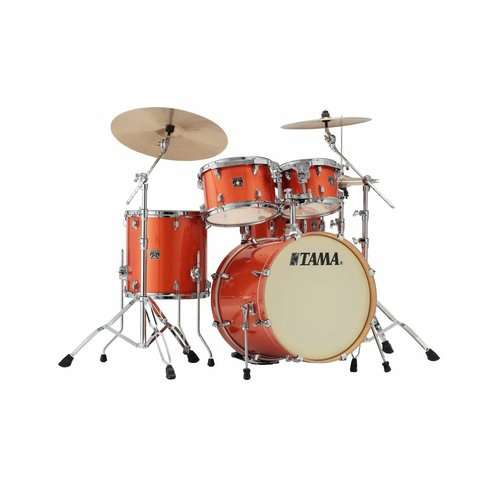 "Tama Superstar Classic 20"" Bd 5Pc Shell Kit In Bright Orange Sparkle Finish"