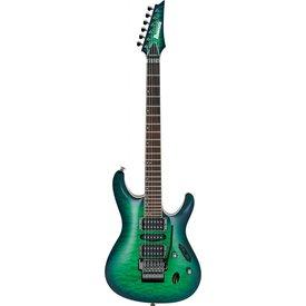 Ibanez Ibanez S6570QSLG S Prestige 6str Electric Guitar w/Case Surreal Blue Burst Gloss
