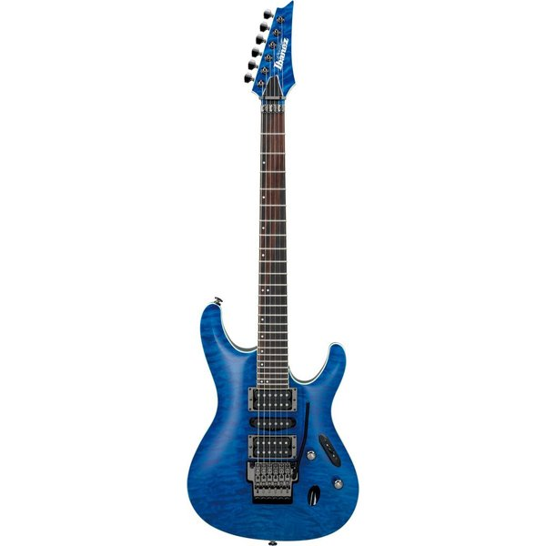 Ibanez Ibanez S6570QNBL S Prestige 6str Electric Guitar w/Case - Natural Blue