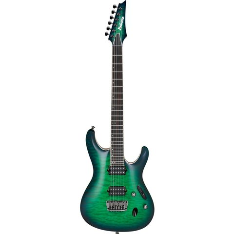 Ibanez S6521QSLG S Prestige 6str Electric Guitar w/Case Surreal Blue Burst Gloss