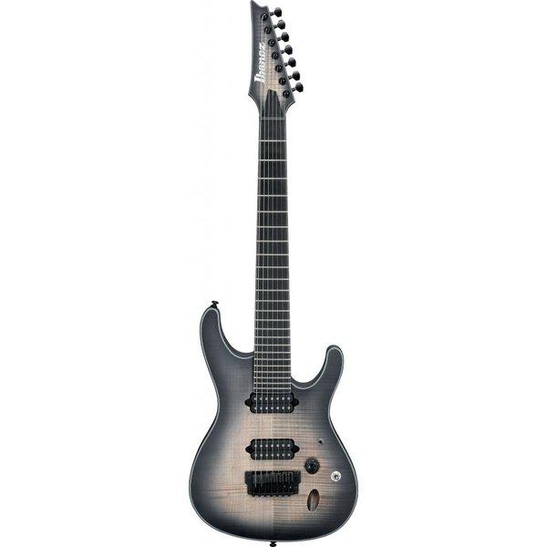 Ibanez Ibanez SIX7FDFMDCB S Iron Label 7str Electric Guitar - Dark Space Burst