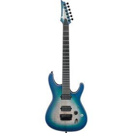 Ibanez Ibanez SIX6FDFMBCB S Iron Label 6str Electric Guitar - Blue Space Burst