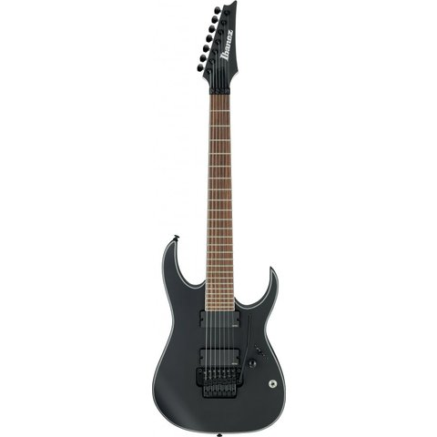 Ibanez RGIR37BEBKF RG Iron Label 7str Electric Guitar - Black Flat