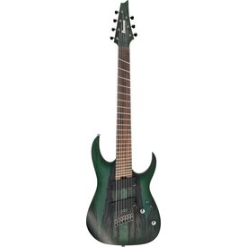 Ibanez Ibanez RGIM7BCDFF RG Iron Label Multi-Scale Electric Guitar Deep Forest Burst