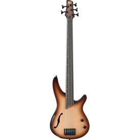 Ibanez Ibanez SRH505FNNF SR Bass Workshop 5str Electric Fretless Natural Browned Burst