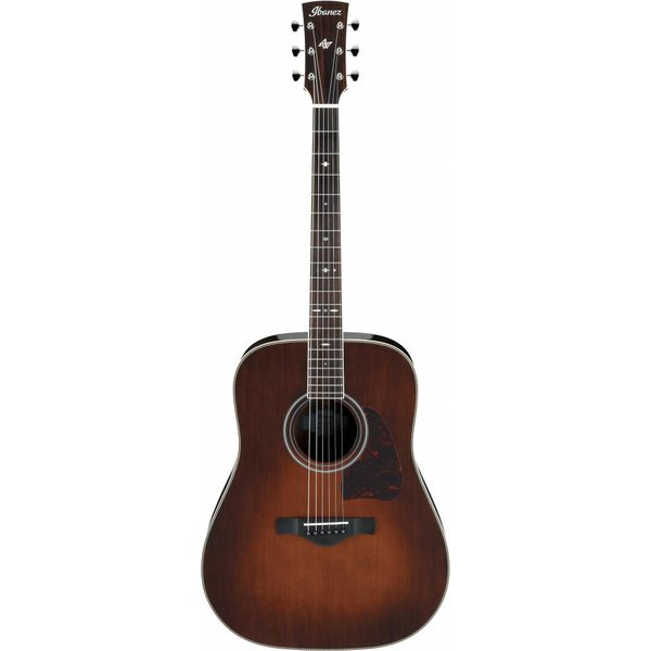Ibanez Ibanez AVD10BVS Artwood Thermo Aged Dreadnought Acoustic Brown Vintage Sunburst
