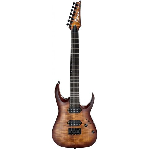 Ibanez RGA742FMDEF RGA Standard 7str Electric Guitar - Dragon Eye Burst Flat