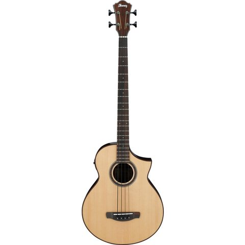 Ibanez AEWB20NT AEW Acoustic Electric Bass Guitar - Natural Gloss