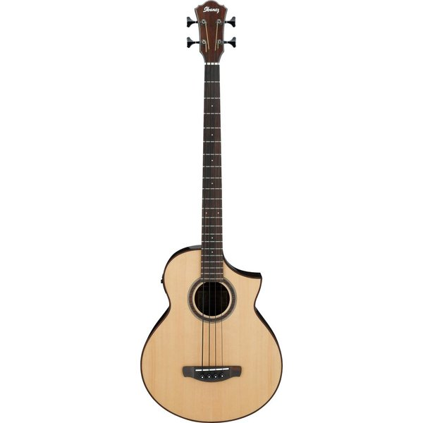 Ibanez Ibanez AEWB20NT AEW Acoustic Electric Bass Guitar - Natural Gloss