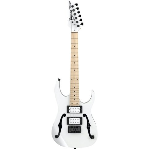 """Ibanez PGMM31WH Paul Gilbert Signature 6str Electric Guitar (22.2"""" scale) White"""