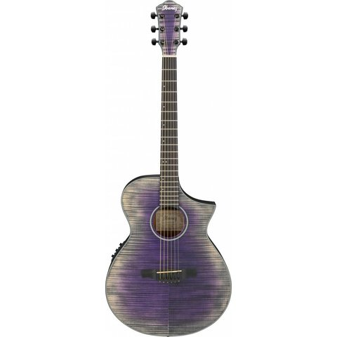 Ibanez AEWC32FMGVL AEW Acoustic Electric Guitar - Glacier Violet Low Gloss
