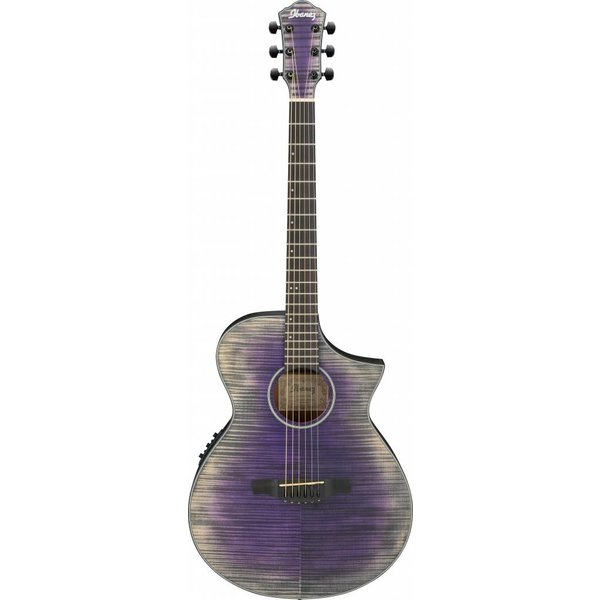 Ibanez Ibanez AEWC32FMGVL AEW Acoustic Electric Guitar - Glacier Violet Low Gloss