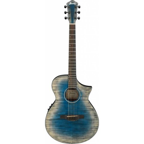 Ibanez AEWC32FMGBL AEW Acoustic Electric Guitar - Glacier Blue Low Gloss