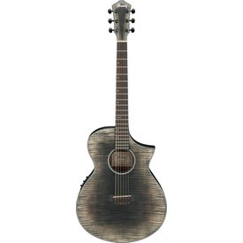 Ibanez Ibanez AEWC32FMGBK AEW Acoustic Electric Guitar - Glacier Black Low Gloss