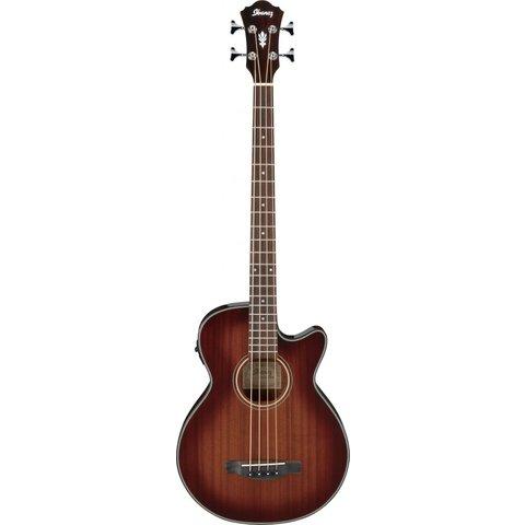 Ibanez AEGB14EMHS AEGB Acoustic Electric Bass Guitar - Mahogany Sunburst