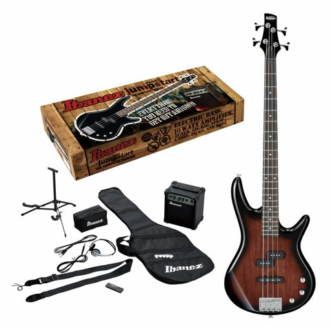 Ibanez IJXB150BWNS Jumpstart Package 4str Electric Bass - Walnut Sunburst