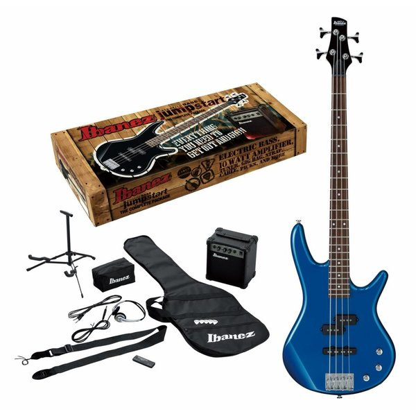 Ibanez Ibanez IJXB150BSLB Jumpstart Package 4str Electric Bass - Starlight Blue