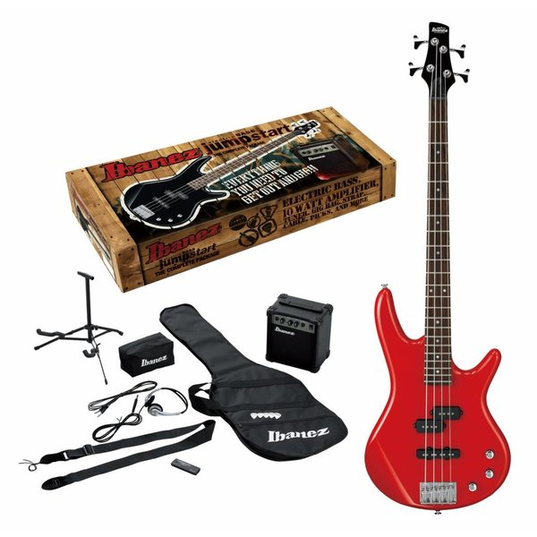 Ibanez Ibanez IJXB150BRD Jumpstart Package 4str Electric Bass - Red