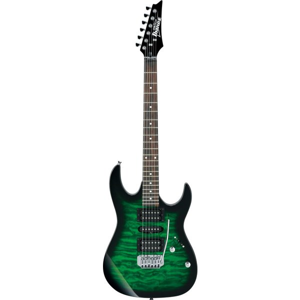 Ibanez Ibanez GRX70QATEB GIO RX 6str Electric Guitar - Transparent Emerald Burst
