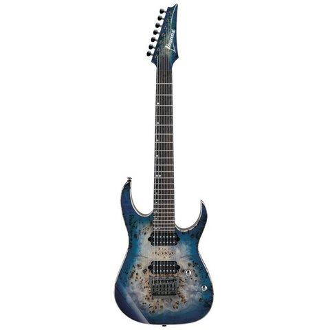 Ibanez RG1027PBFCBB RG Premium 7str Electric Guitar w/Case - Cerulean Blue Burst