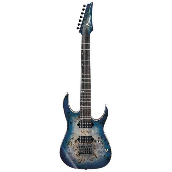 Ibanez Ibanez RG1027PBFCBB RG Premium 7str Electric Guitar w/Case - Cerulean Blue Burst