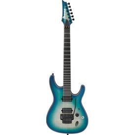 Ibanez Ibanez SIX6DFMBCB S Iron Label 6str Electric Guitar - Blue Space Burst